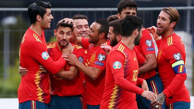 Spanje houdt perfecte reeks EK-kwalificatie in stand, Oekraïne haalt uit