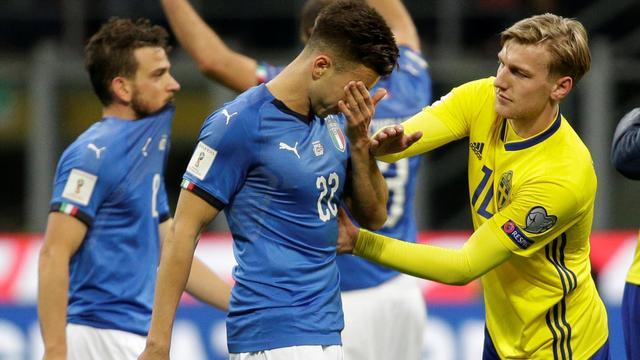 Italië voor het eerst sinds 1958 niet naar WK na remise tegen Zweden
