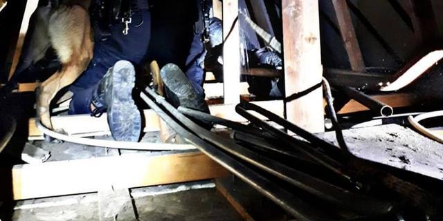 Politie vindt verdachte inbraak na hulp diensthond op kruipzolder