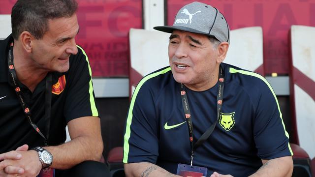 Maradona drie dagen na vertrek weer aangesteld als coach Fujairah
