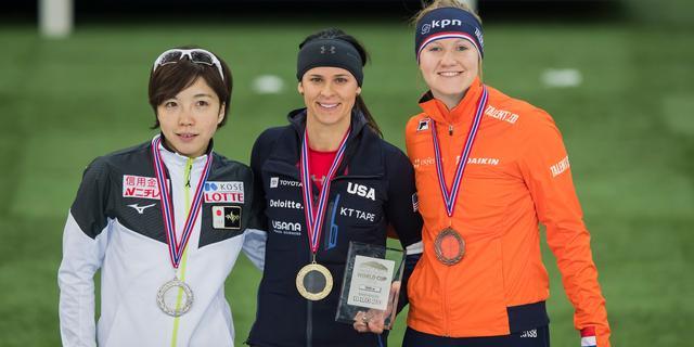 Van Beek grijpt brons op 1.000 meter, Kodaira blijft ongeslagen op 500 meter