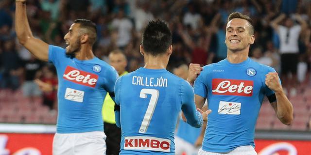 Milik noemt twee goals bij thuisdebuut Napoli een droom