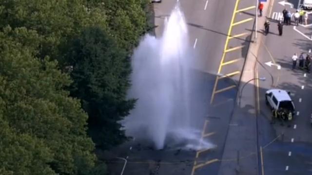 Gesprongen waterleiding zorgt voor overlast in New York