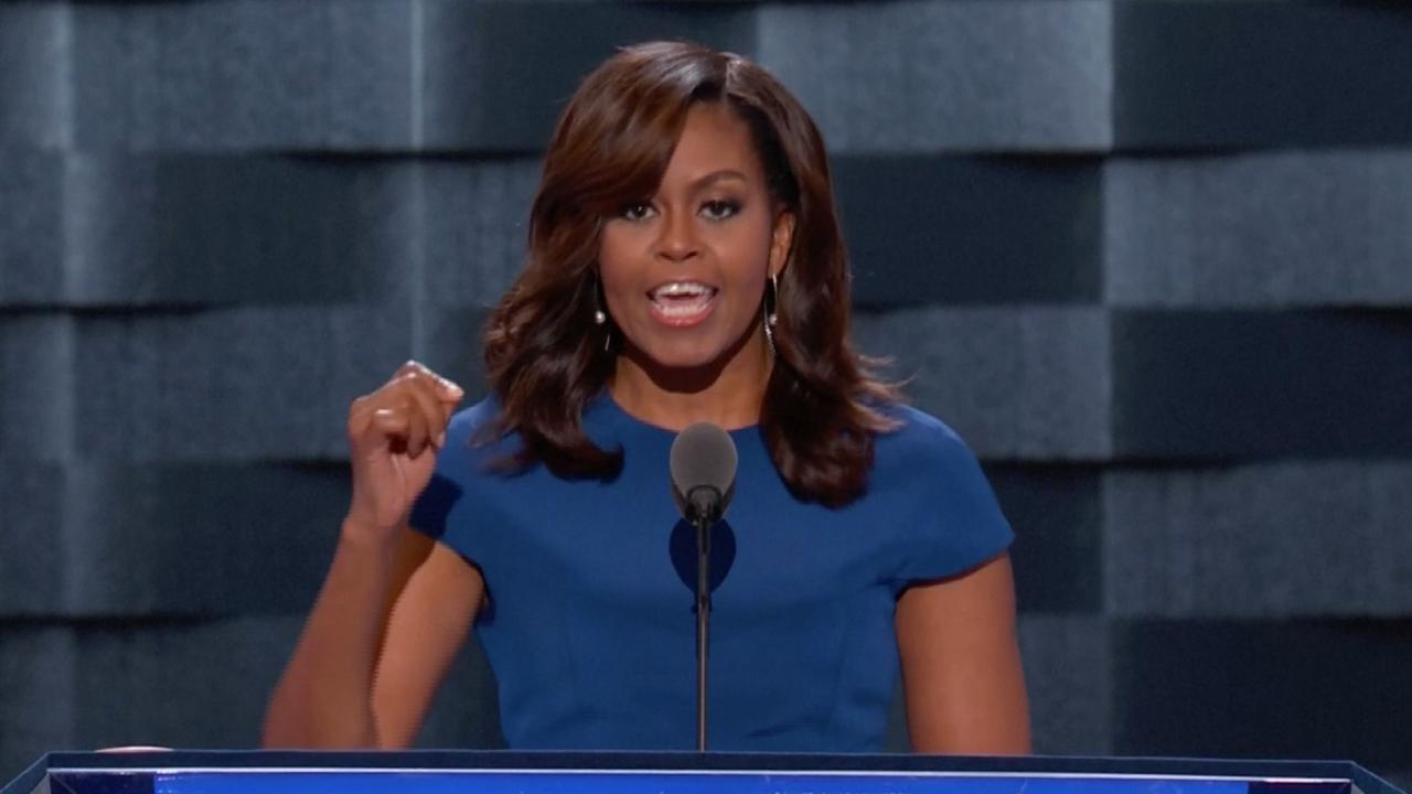Michelle Obama staat achter Clinton