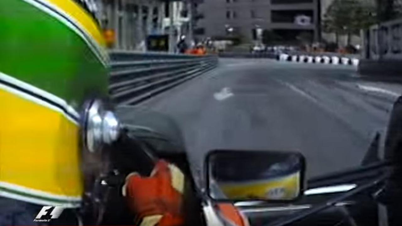 Senna in Monaco in 1990