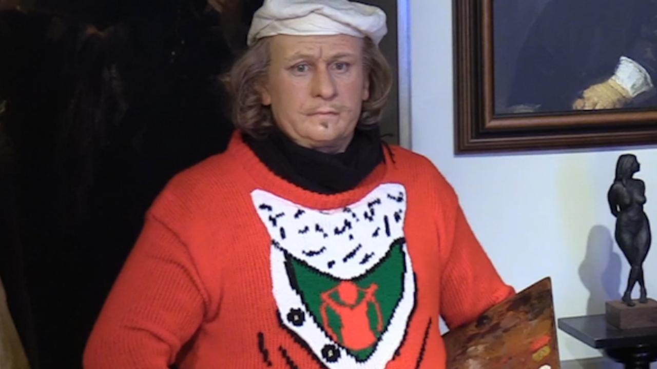 Foute Kersttrui Dag.Wassenbeeld Rembrandt Klaar Voor Foute Kersttruiendag Nu Het