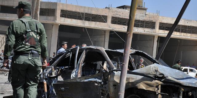 Doden na bomaanslag op markt Damascus