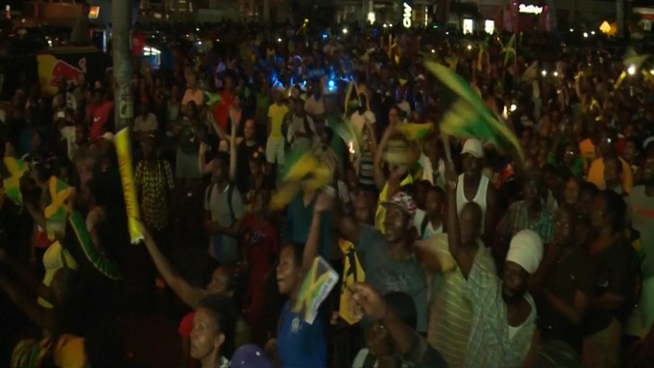 Jamaicanen vieren overwinning Usain Bolt