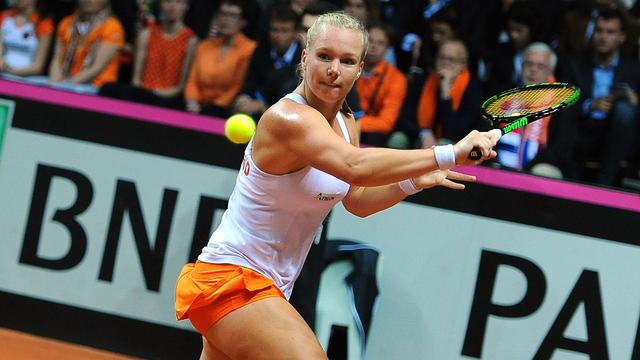 Nederland en Slowakije in evenwicht na eerste dag in Fed Cup