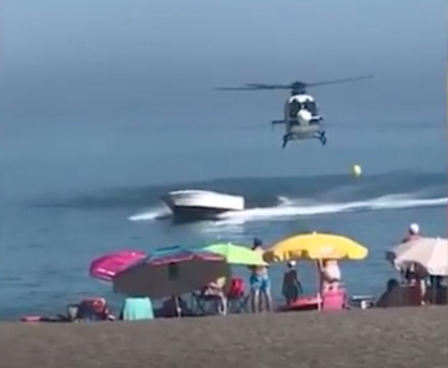 Politiehelikopter achtervolgt drugsboot bij Malaga