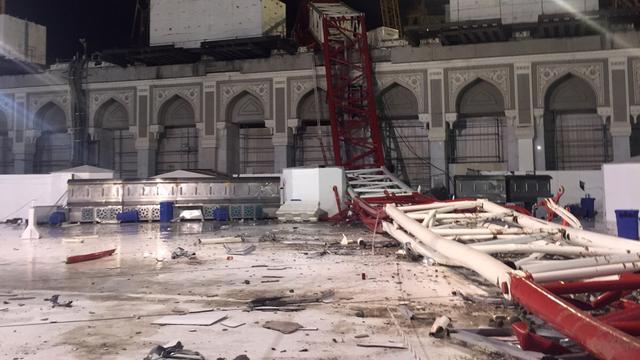 Meer dan honderd doden na omvallen bouwkraan in moskee Mekka