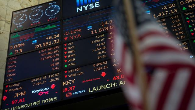 Wall Street opent licht lager na lang weekeinde