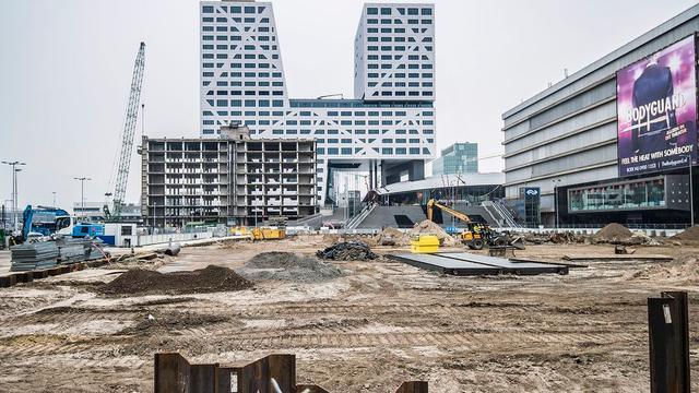 Webcam bij het Jaarbeursplein om bouwwerkzaamheden te volgen