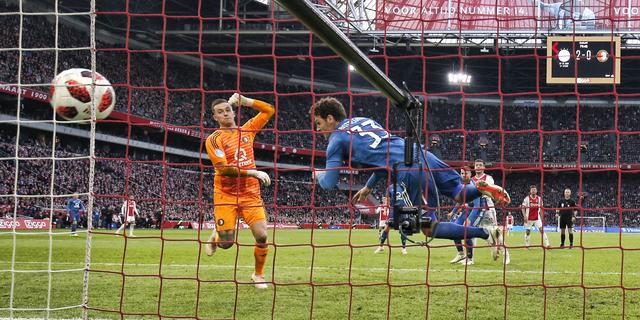 Feyenoorders denken na zeperd bij Ajax voorlopig niet aan titel