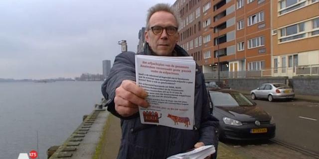 Flyer roept Amsterdammers op om te demonstreren tegen erfpachtplan
