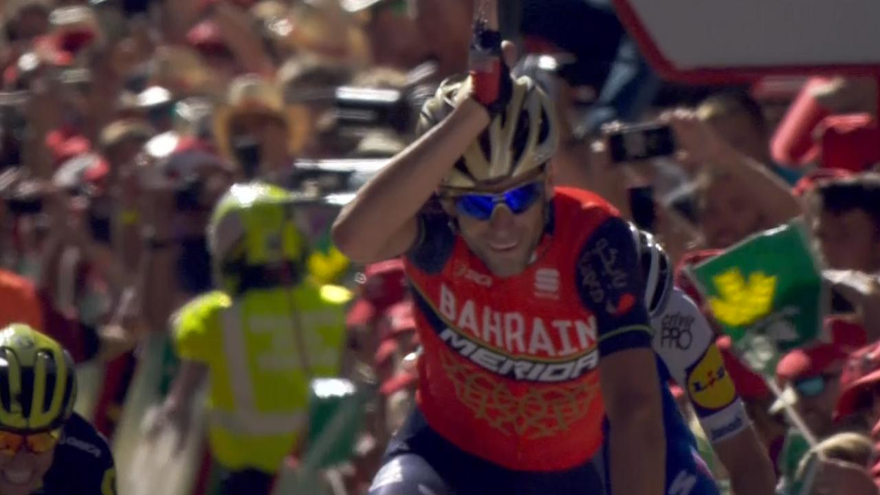 Nibali wint derde etappe Vuelta, Froome nieuwe leider
