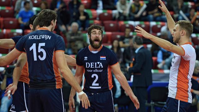 Volleyballers verslaan Oostenrijk en doen goede zaken in strijd om EK-ticket
