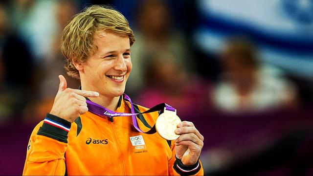 Epke Zonderland na het olympisch goud in 2012.