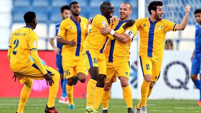 Al-Gharafa ondanks twee treffers Sneijder onderuit bij hekkensluiter