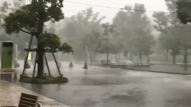 Noodweer zorgt voor veel wateroverlast in Tokio