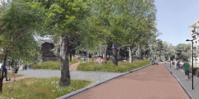 Illegale parkeerplaatsen Lovensdijkstraat maken plaats voor park met water