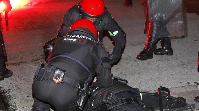 Agent omgekomen tijdens rellen bij Athletic Bilbao-Spartak Moskou