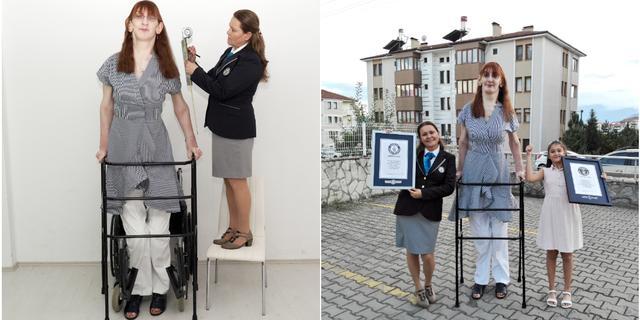 Turkse van ruim 2,15 meter gekroond tot langste vrouw ter wereld