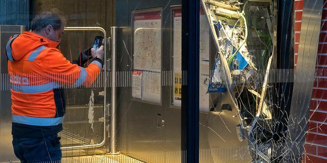 Explosie bij station Reigersbos, metro's 50 en 54 stoppen niet op de halte