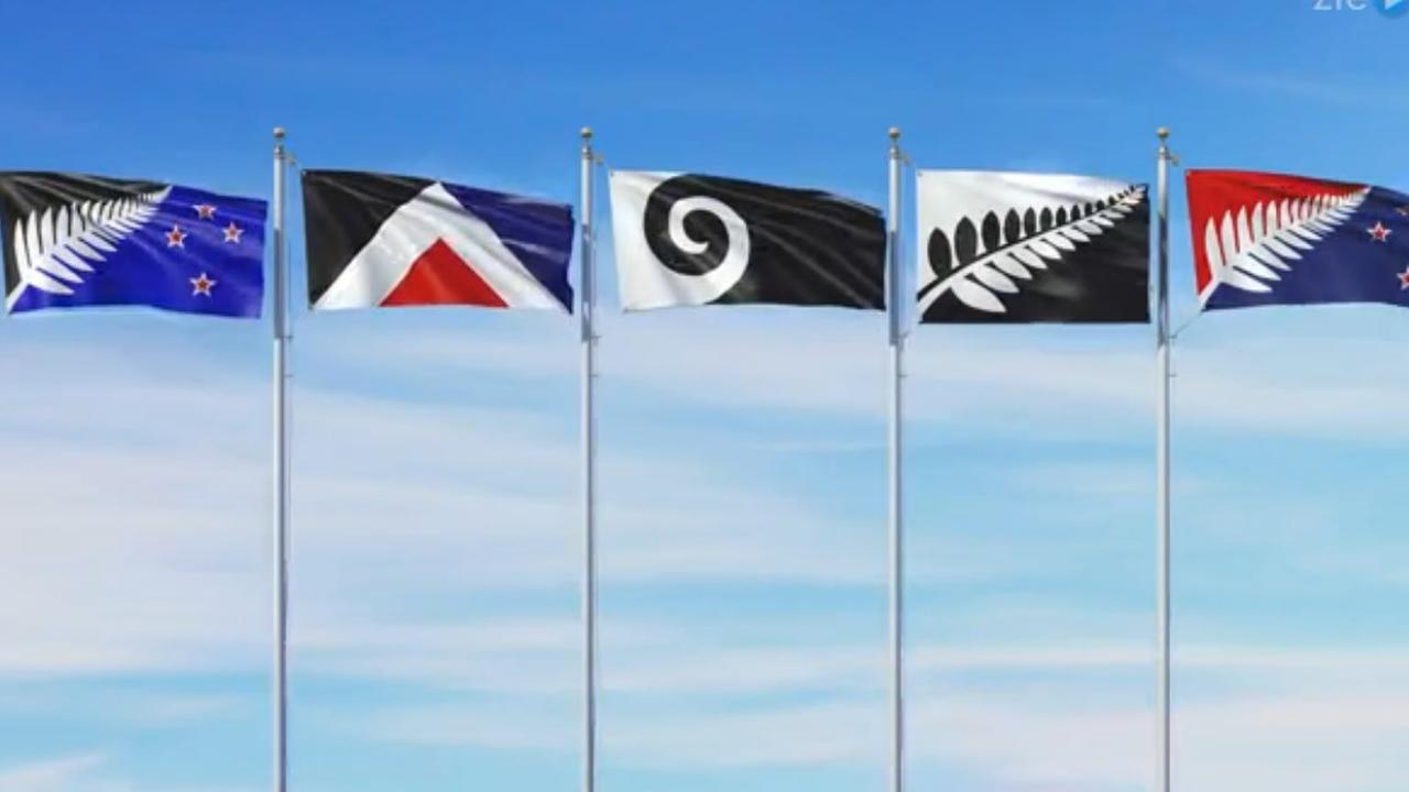 Dit zijn de vijf vlaggen waarop de Nieuw-Zeelanders kunnen stemmen