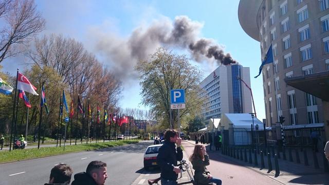 Marriott Hotel Den Haag enige tijd ontruimd door grote brand