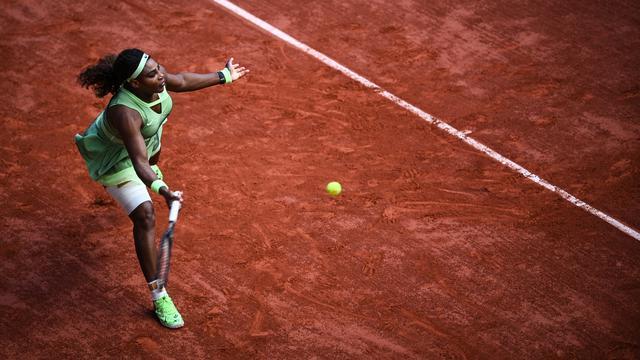 Serena Williams liet zich in de vierde ronde verrassen.
