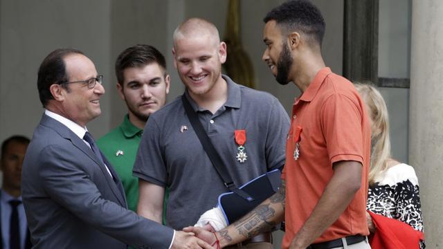 'Thalys-helden' krijgen hoogste Franse onderscheiding