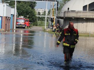 Naastgelegen fietspad kwam ook onder water te staan