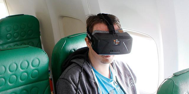 Ook Transavia experimenteert met virtual reality tijdens vluchten