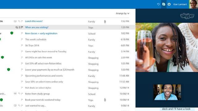 Skype in Outlook krijgt nieuw uiterlijk