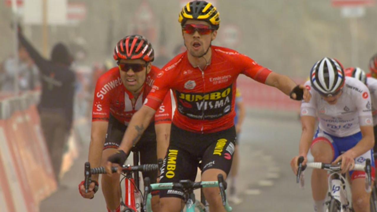 Roglic klopt Dumoulin in laatste meters voor finish in Ronde van VAE