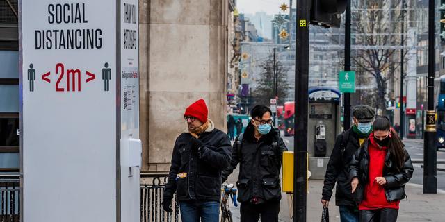 Heel Engeland tot half februari in lockdown om extra besmettelijke mutatie