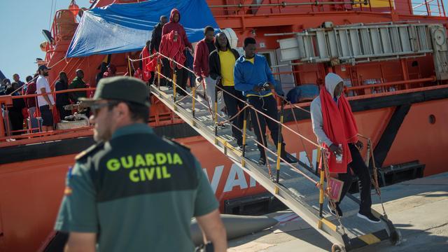 Recordaantal migranten naar Spanje in oktober