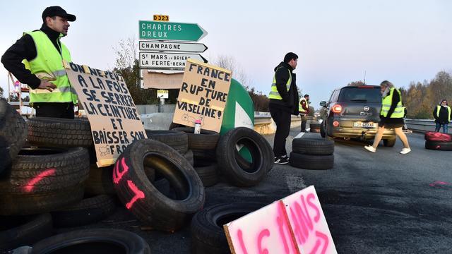 Protesten in Frankrijk tegen verhoging brandstofprijzen gaan door
