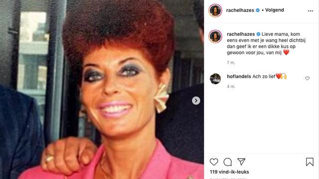 Hazes' moeder denkt op haar beurt aan haar eigen moeder. (Foto: Instagram/Rachel Hazes)