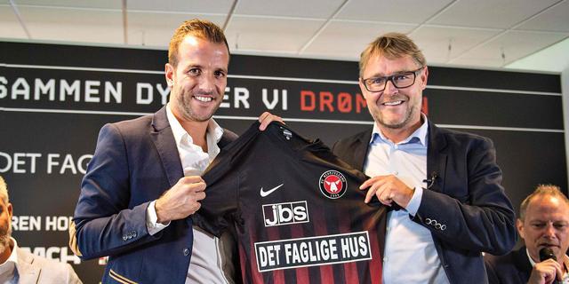 Deense club FC Midtjylland presenteert Van der Vaart