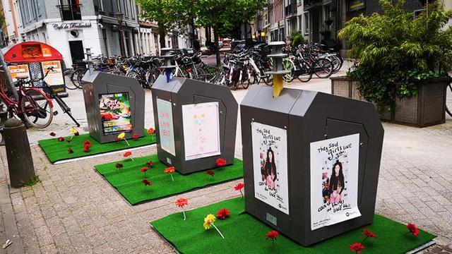 Bewoners De Pijp versieren vuilniscontainers