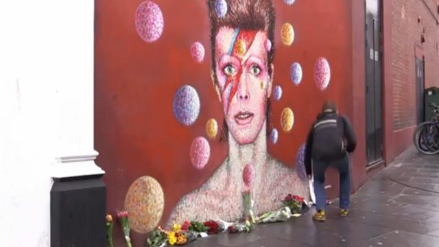 Privékunst David Bowie tentoongesteld in Londen