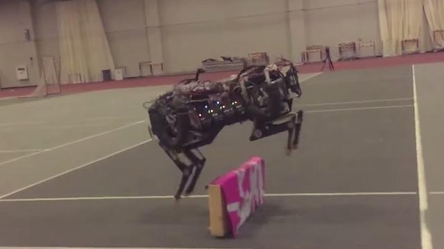 Supersnelle Cheetah-robot springt autonoom over objecten heen