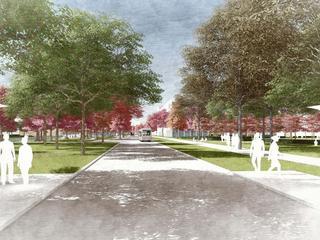 Campus krijgt lange, groene promenade