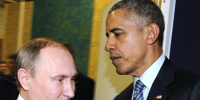 Obama en Poetin in gesprek tijdens klimaattop