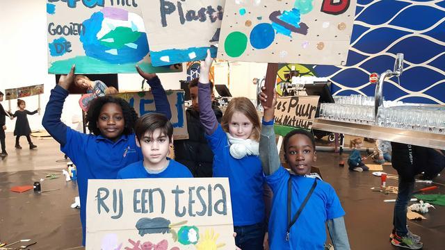 Speciale klimaatmars voor kinderen in Almere