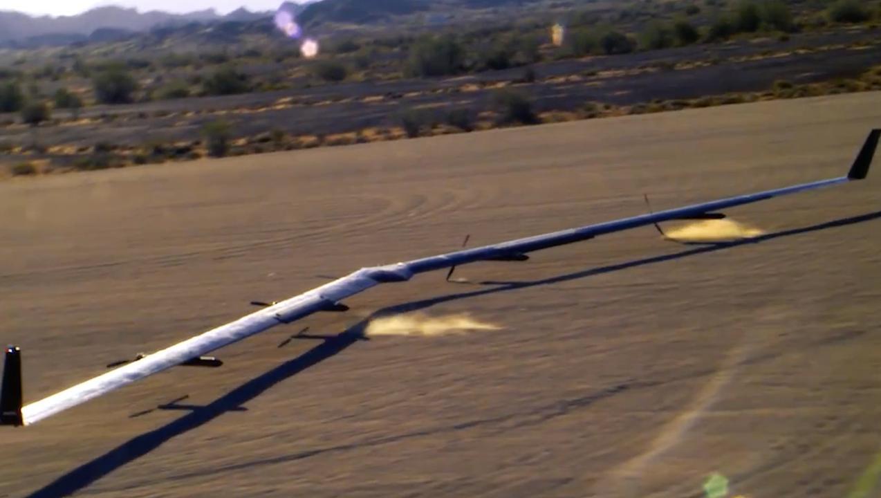 Perfecte landing voor tweede testvlucht Facebook-drone