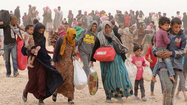 '75.000 gevluchte Syriërs vast in niemandsland bij grens Jordanië'