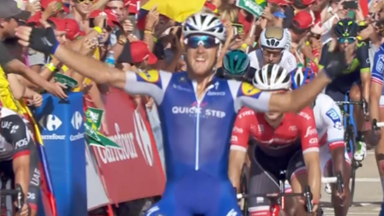 Vuelta: Trentin sprint naar zege, Froome houdt rode trui